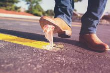 Photo of bubble gum on a shoe by Gratisography