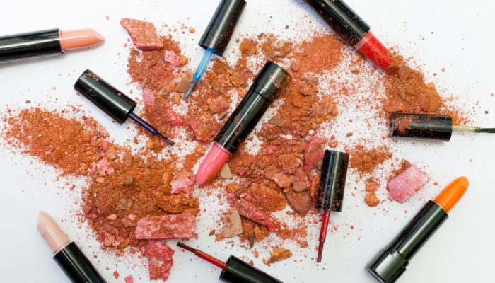 Spilled and broken cosmetics photo from Free Creative Stuff