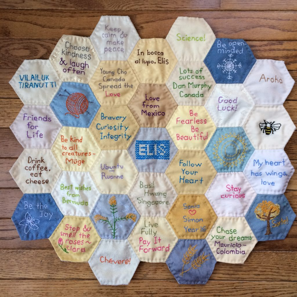 The Year 16 Scholarship Fundraising Quilt