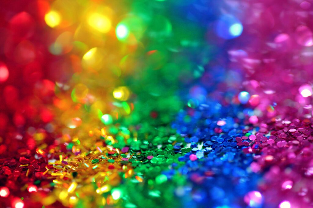 Rainbow colors of plastic glitter by Sharon McCutcheon, Pexels