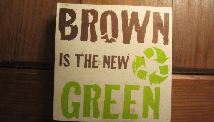 Brown is the new Green on Ellie Poo paper