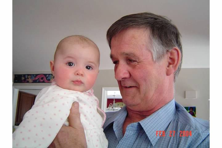 Uncle Jim with Nora, February 2004