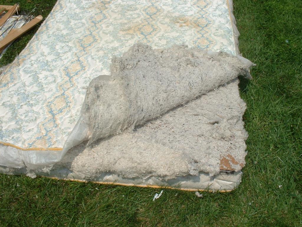 Layers of fiber inside the mattress