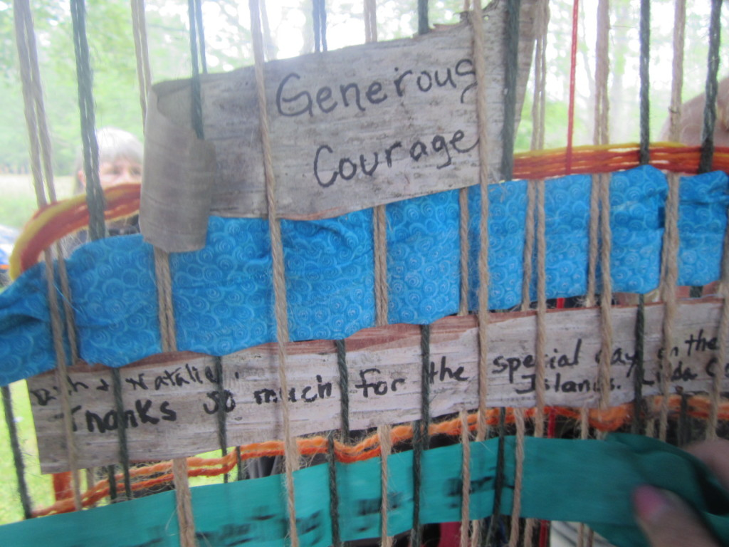 Notes on birch bark in the Weaving a Life creation