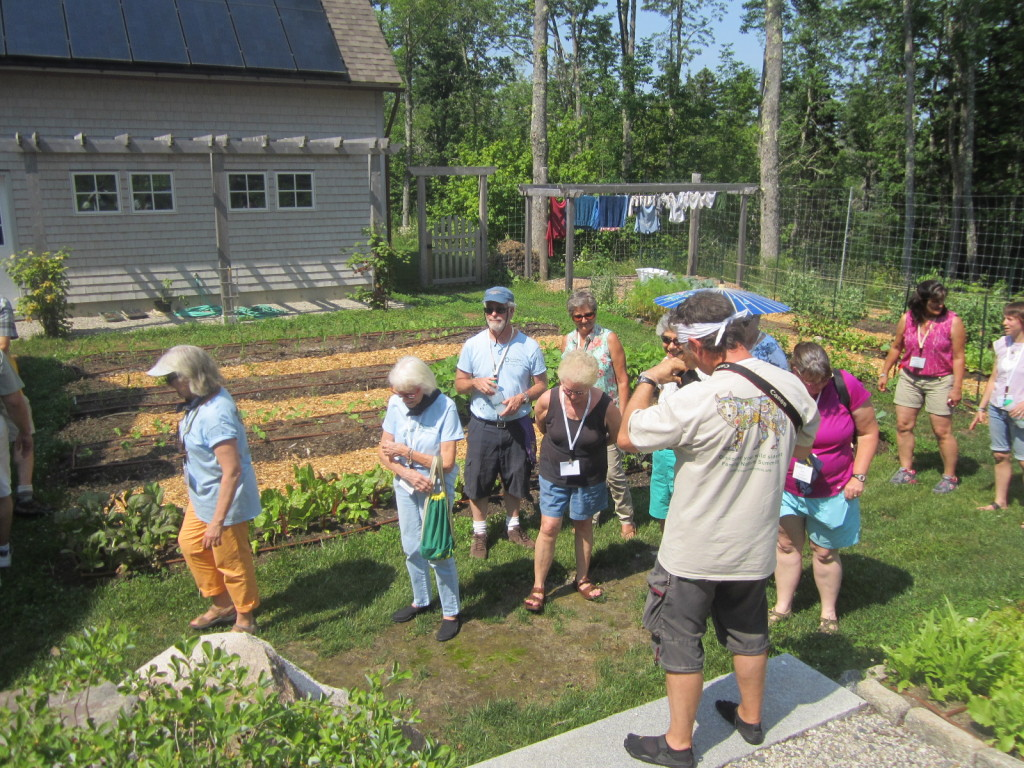 Harris' organic garden & solar panel array