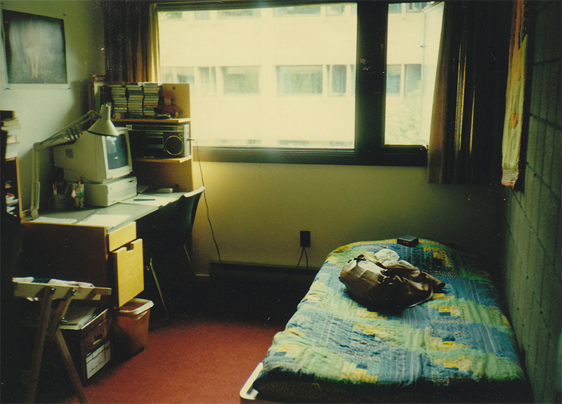 My room at Trent University, 1992