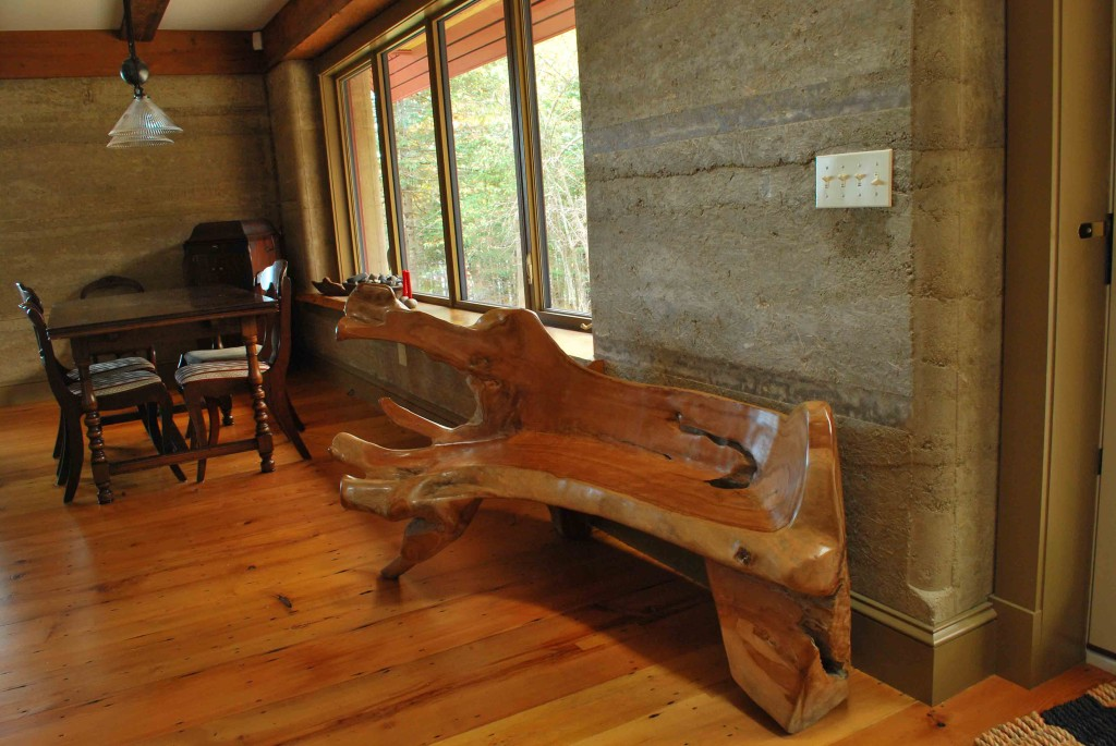 Rammed Earth House living room - Photo by Susan Turner