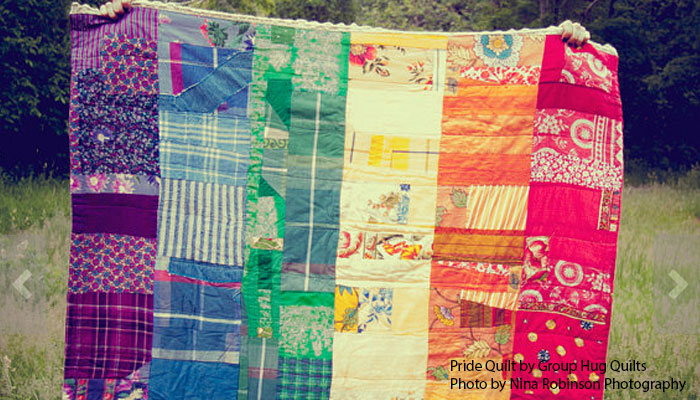 Pride Quilt by Group Hug Quilts - Nina Robinson Photography