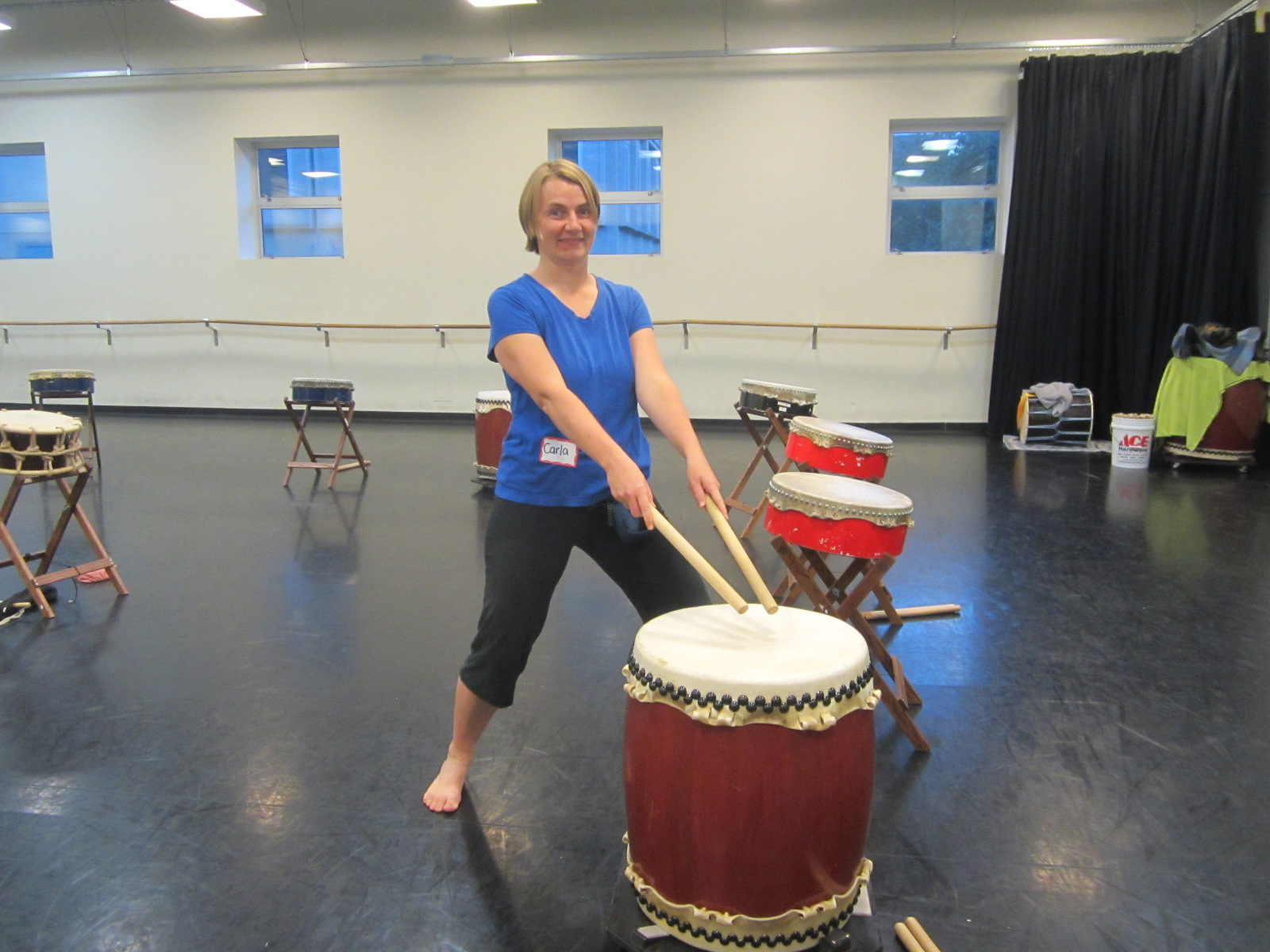 My first Taiko drumming class