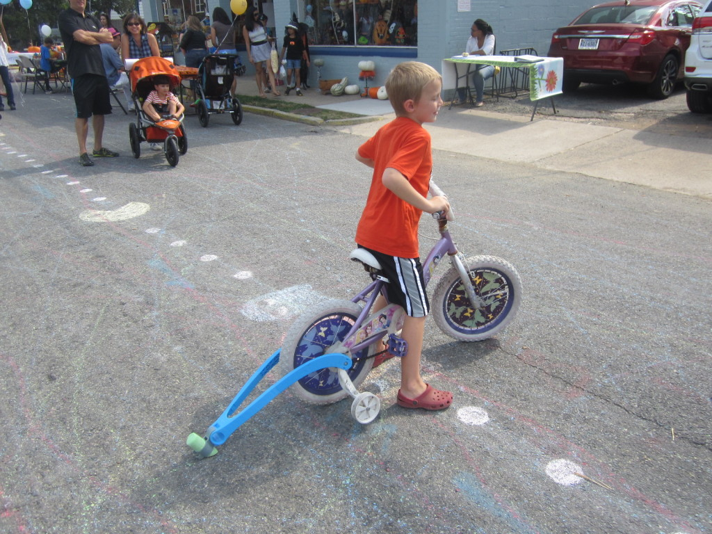 Making Chalk Trails with Bicycles - Near Velocity in Alexandria