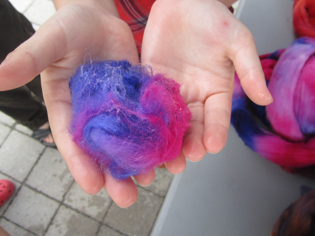 Nora makes felted soap
