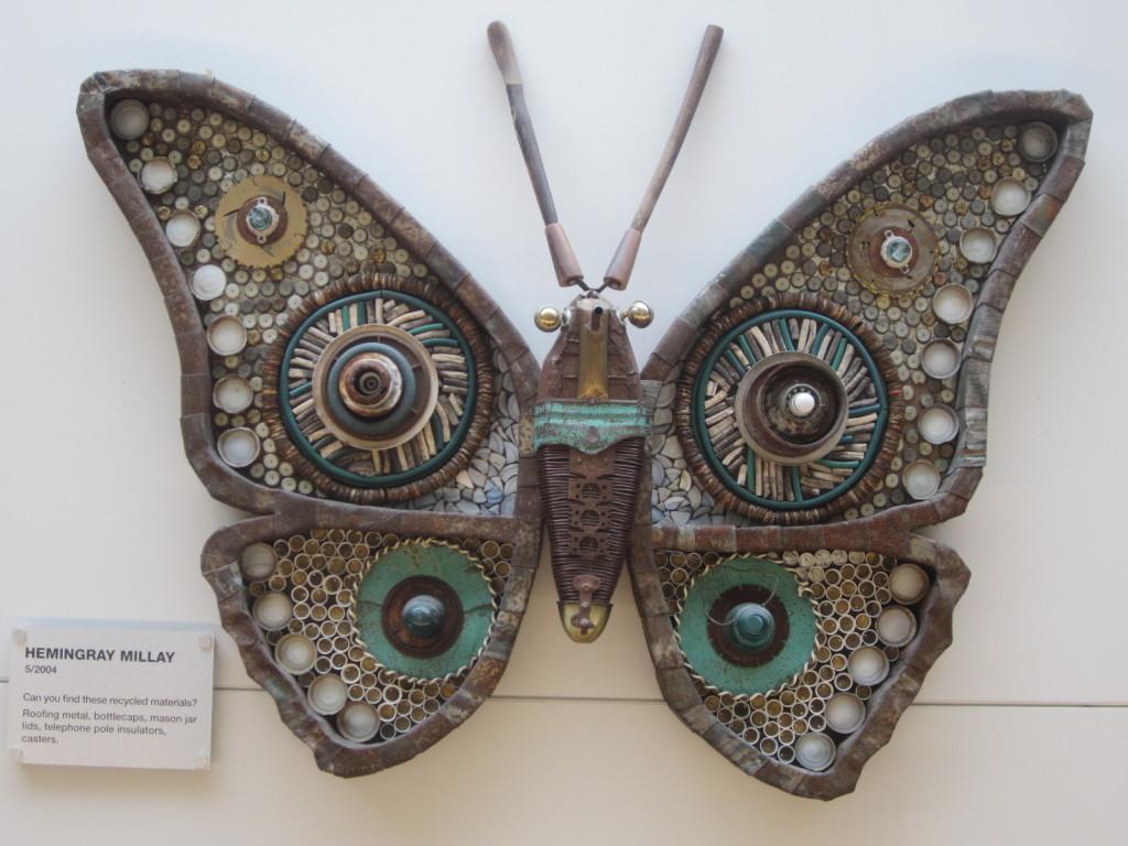 Michelle Stitzlein's Hemingray Millay moth sculpture