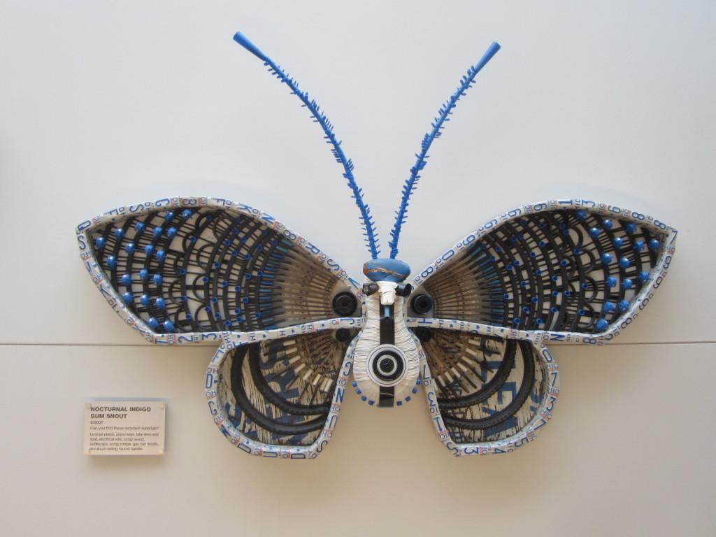 Michelle Stitzlein's Nocturnal Indigo Gum Snout moth sculpture
