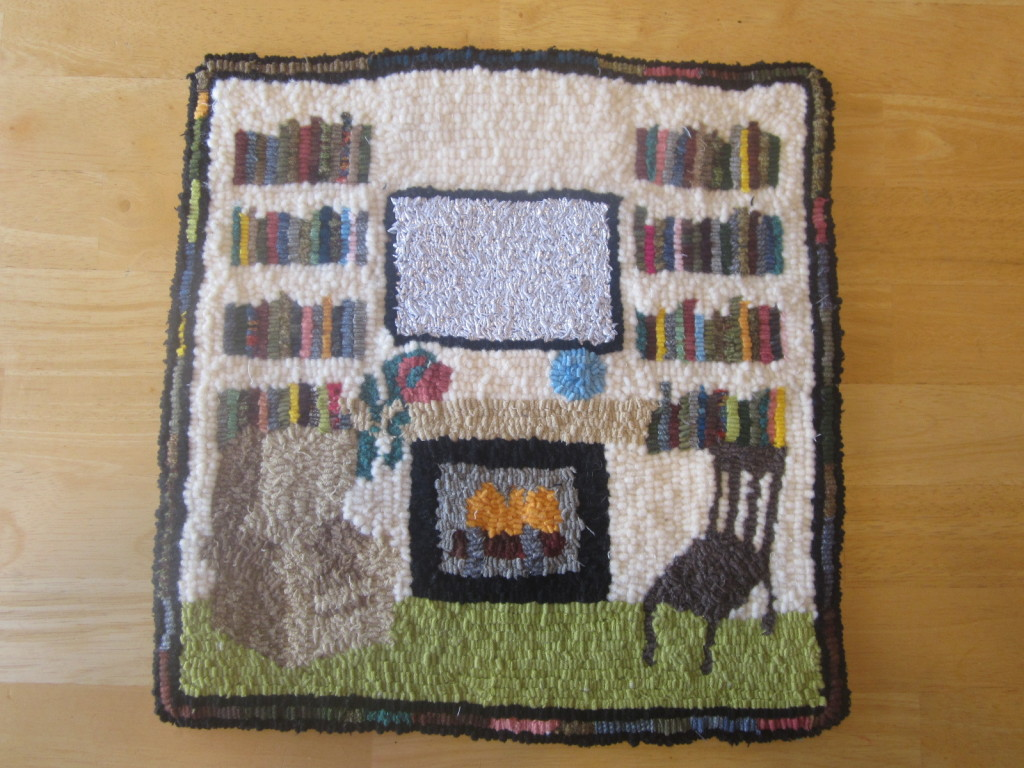 Marilyn's rug - Her cozy living room