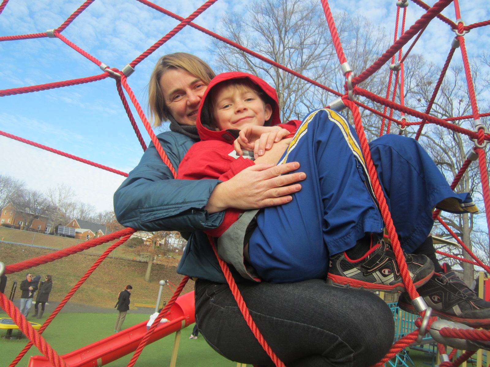 Hanging out at Tuckahoe Park playground in Arlington