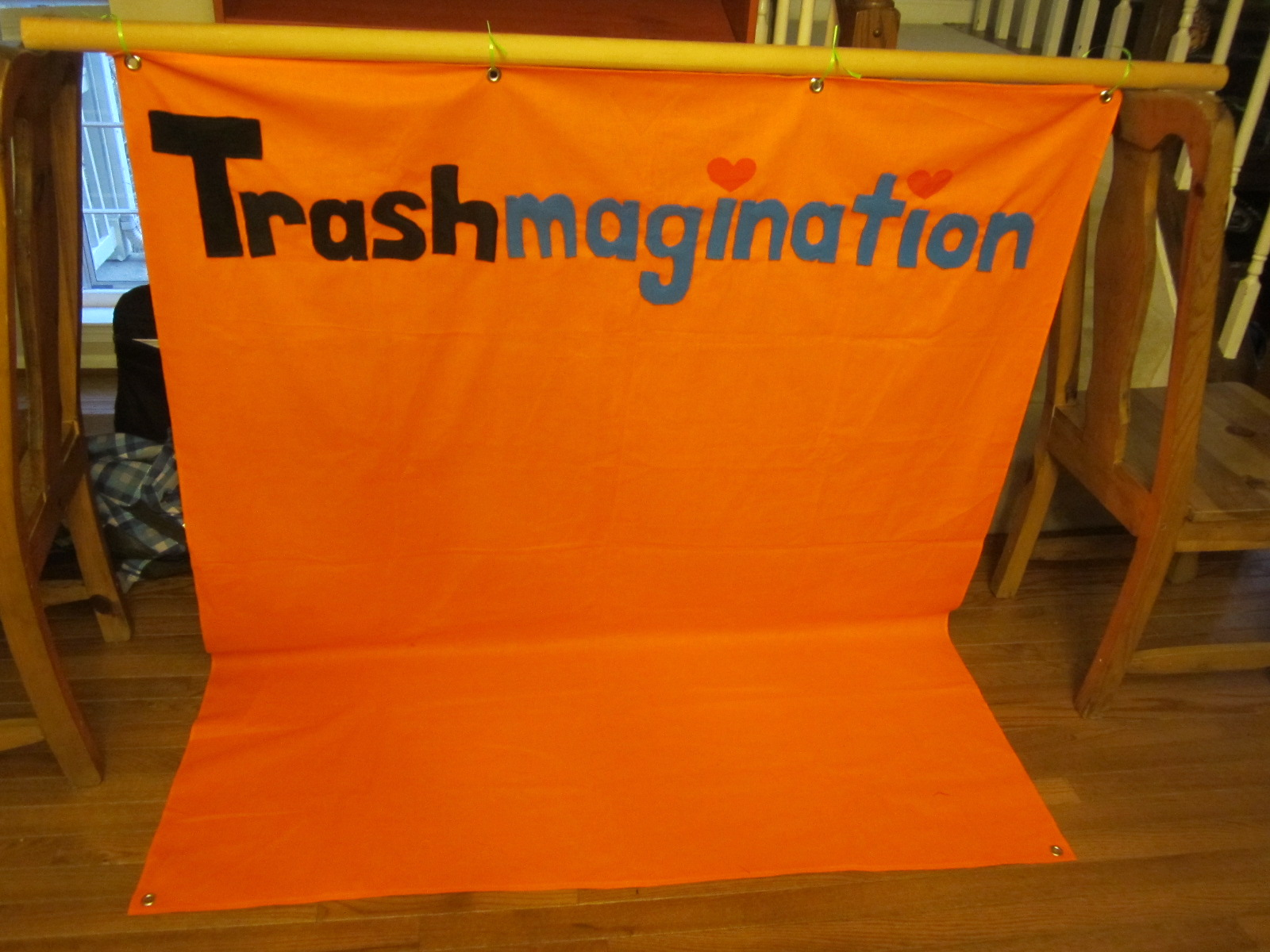 The Trashmagination Banner I sewed