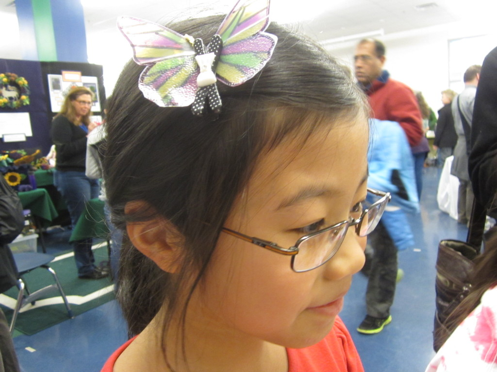 Butterfly as hair decoration