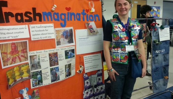 My Trashmagination booth at the NoVA Maker Faire - photo by State Delegate Kenneth Plum!