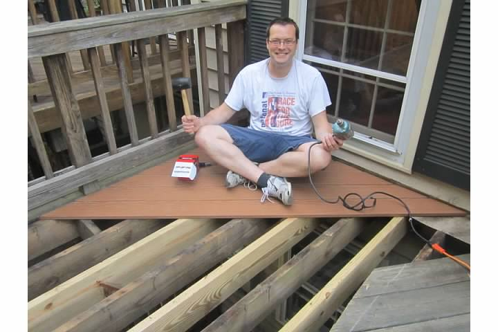 Bob Replacing Deck, Summer 2013