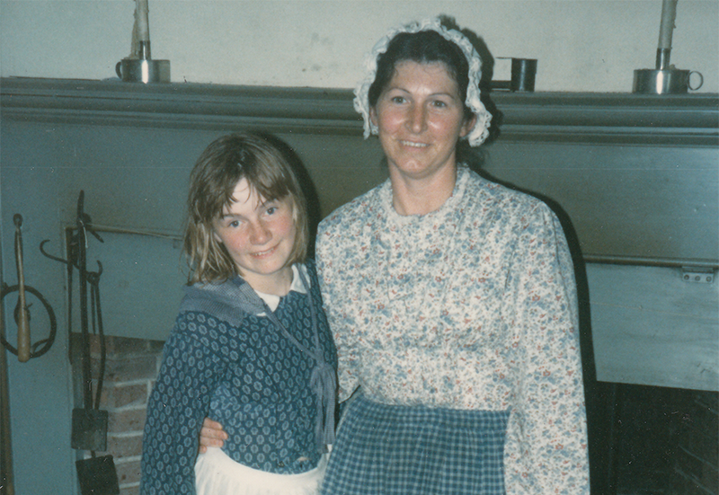 Me with my house mother at Heustis House in the 1980s