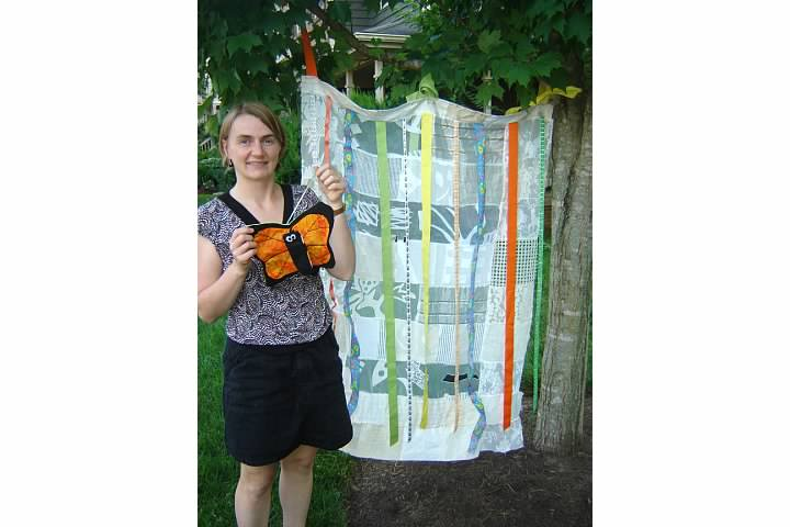 Outdoor Play Curtain and Transforming Monarch Butterfly Toy
