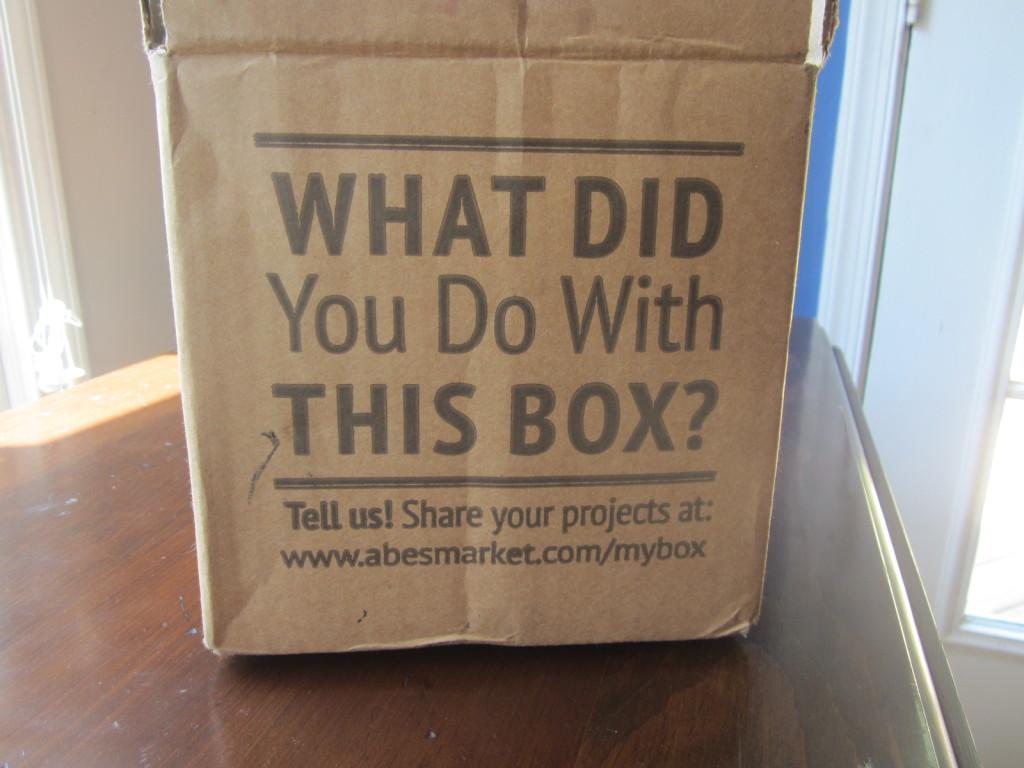 Abe's Market shipping box