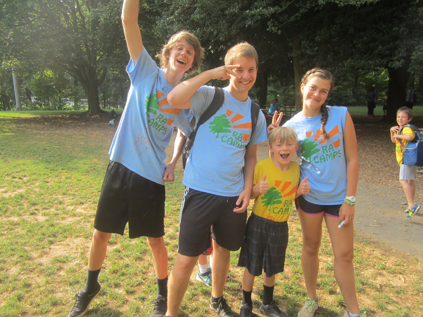 Russell with counsellors at Reston Association Camp