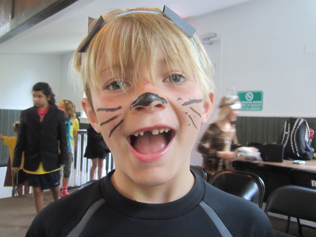 Russell as Mister Whiskers at Reston Association Camp