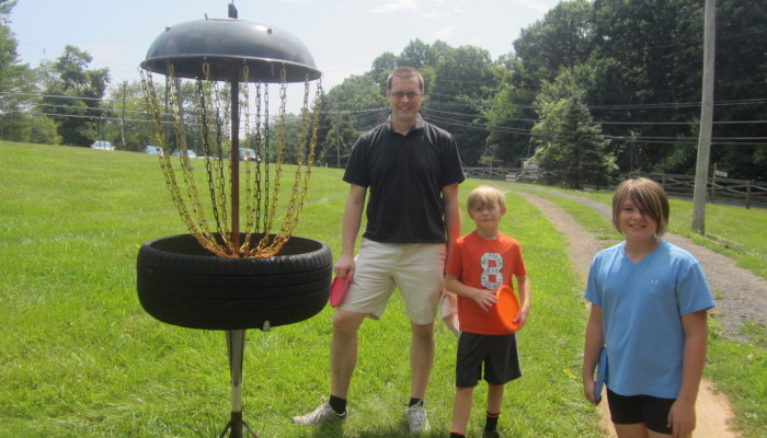 BBQ Cover becomes Disc Golf Basket