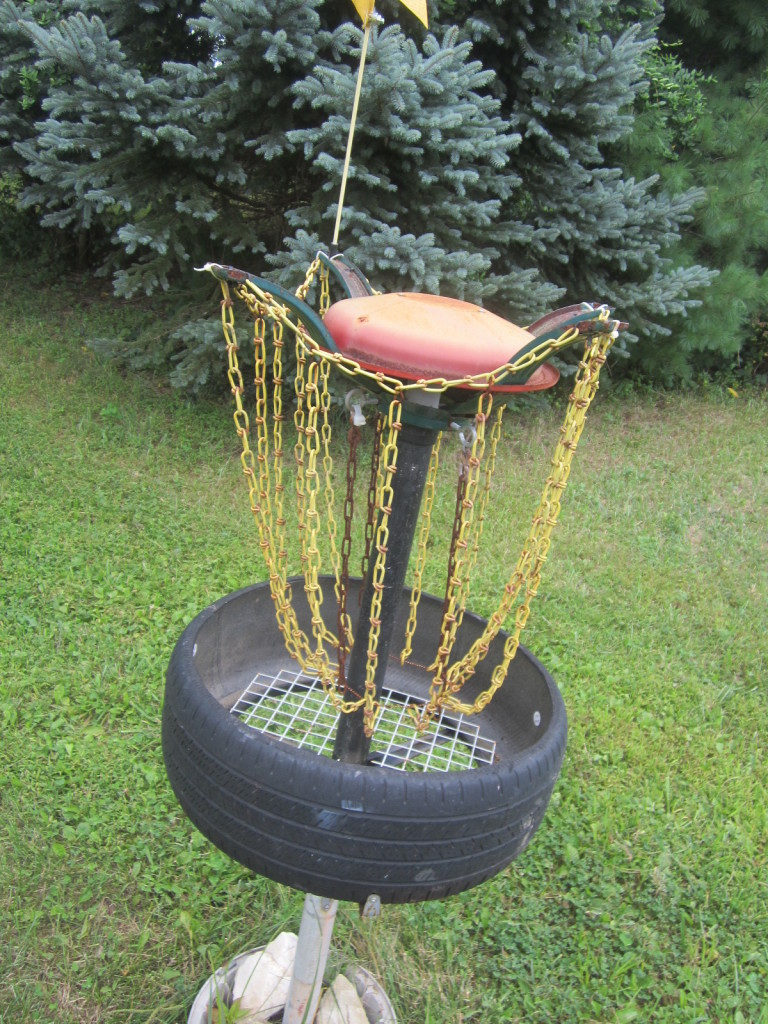 Christmas Tree Stand becomes Disc Golf Basket