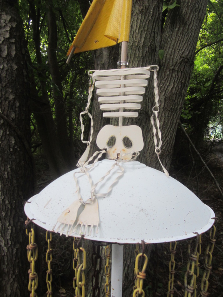 Metal Skeleton Becomes Disc Golf Basket
