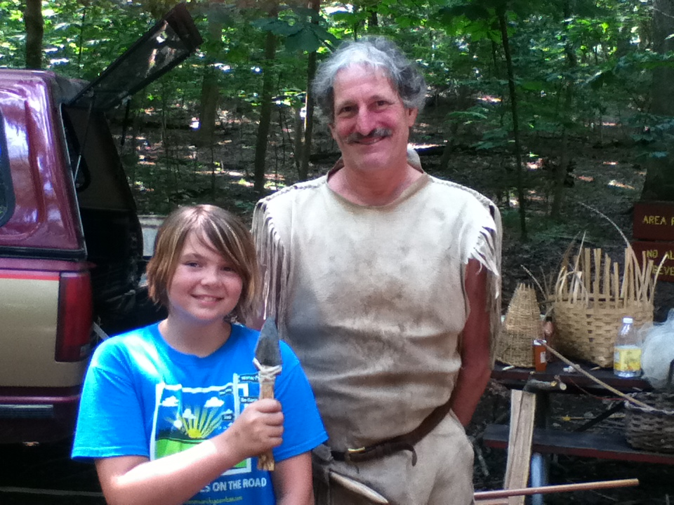 Nora at Primitive Teachings Camp with Michael Sottosanti