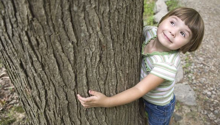Nora Hugging Tree