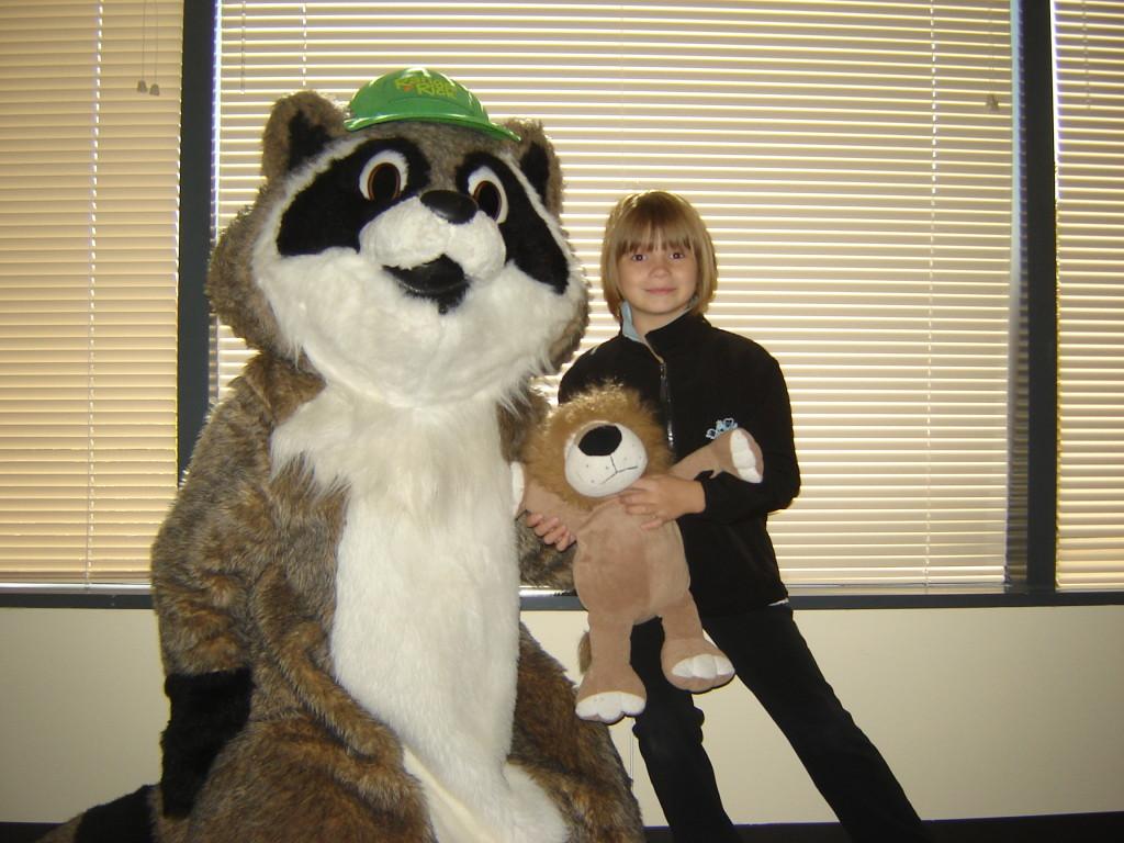 Nora's classroom mascot meets Ranger Rick, 2010