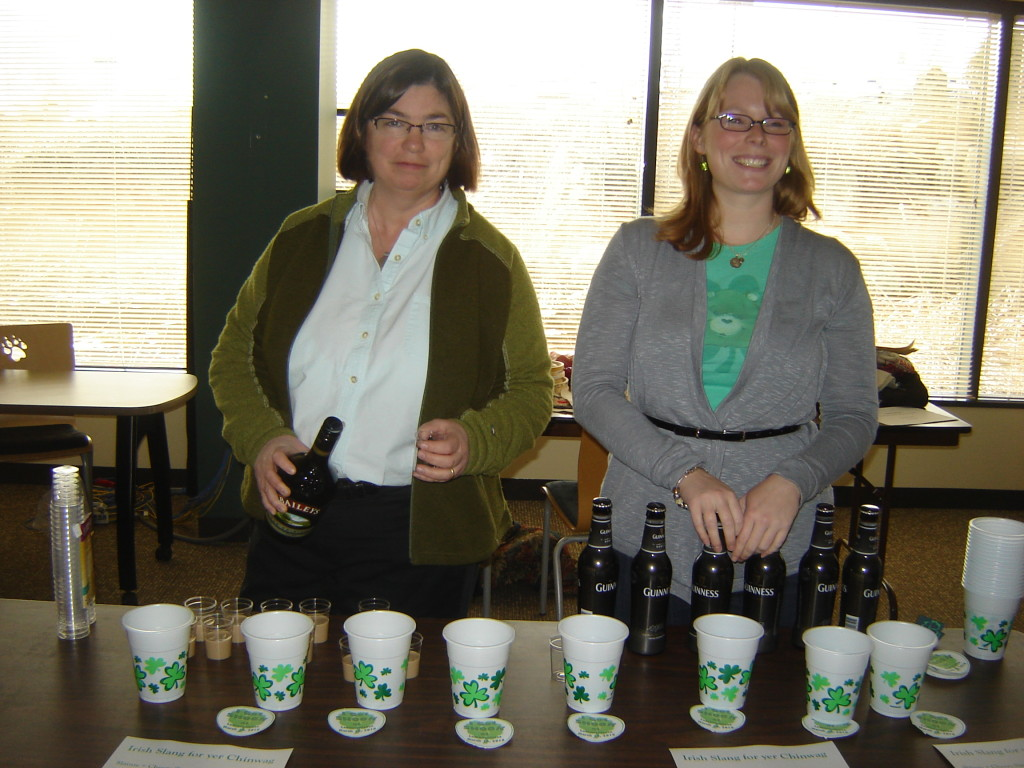 Lori & Megan teach how to mix an Irish Earthquake (I think) - 2010