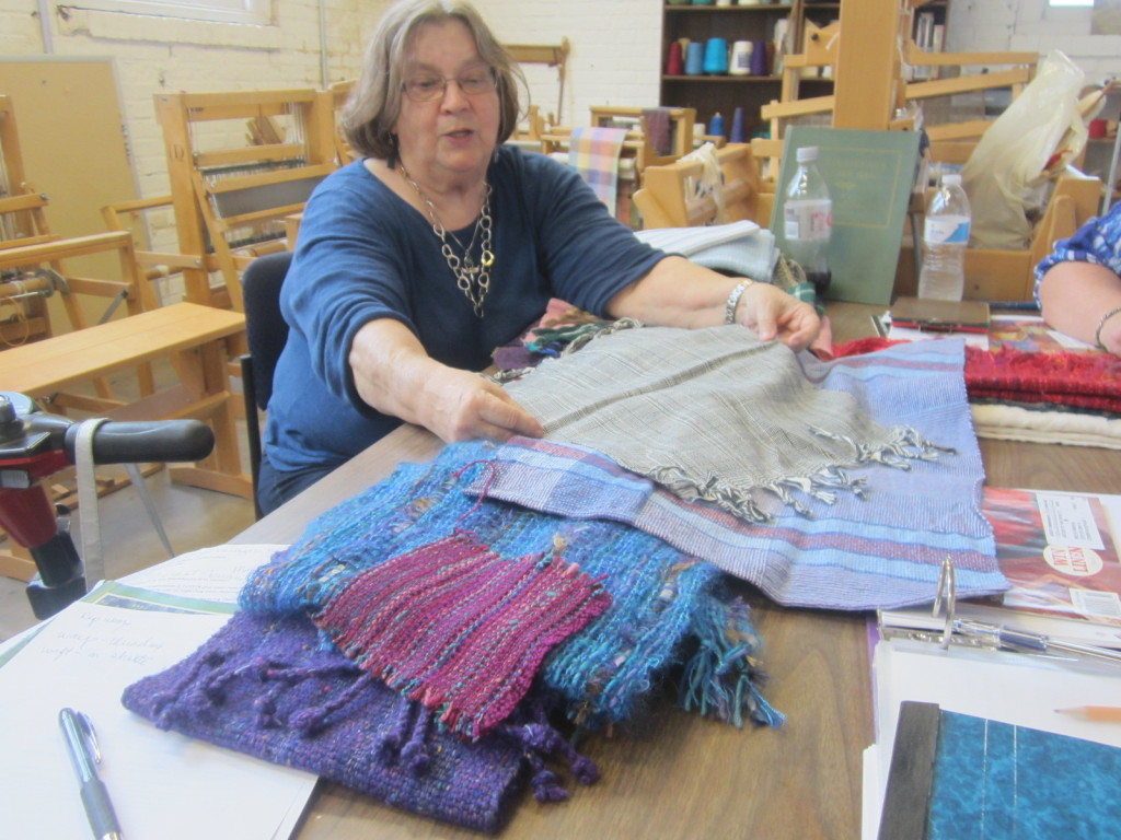 Marilyn teaches us what types of materials make each type of weaving