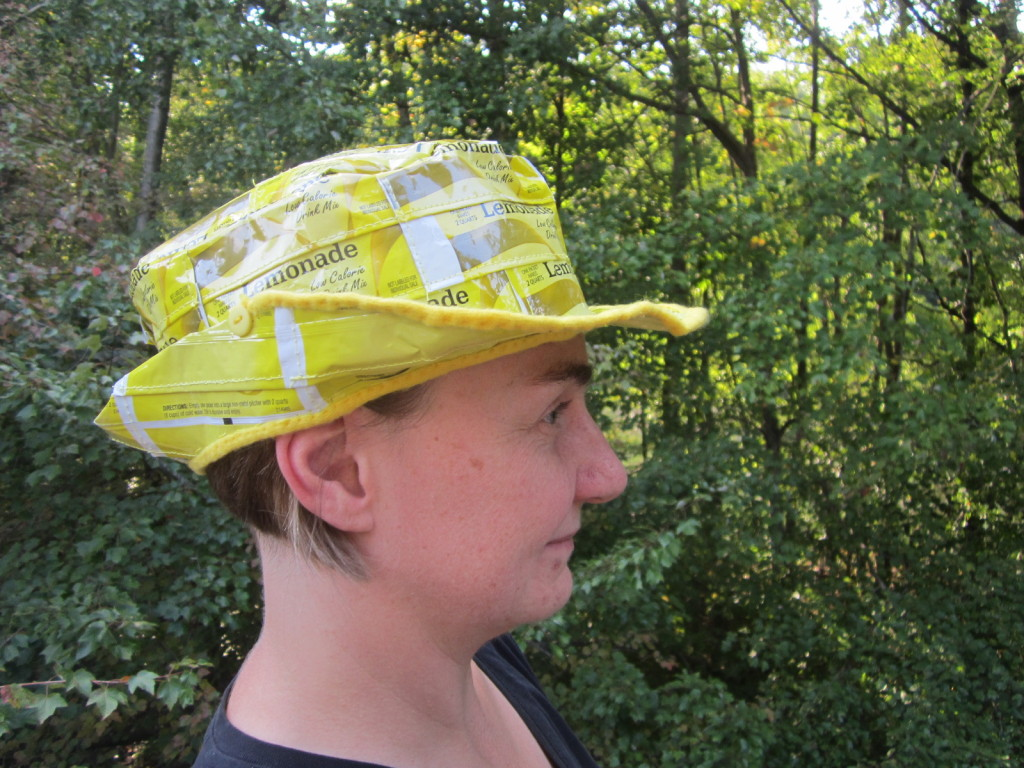 Side view of the lemonade fedora