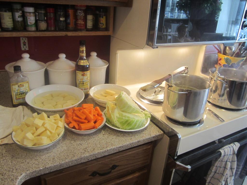 Traditional Jigg's Dinner preparations - 2013