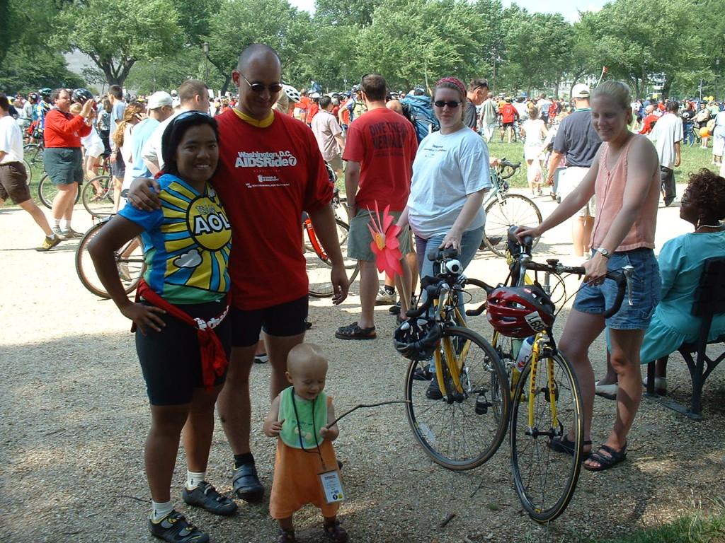 Supporting Vu & Erik in the AIDS Ride