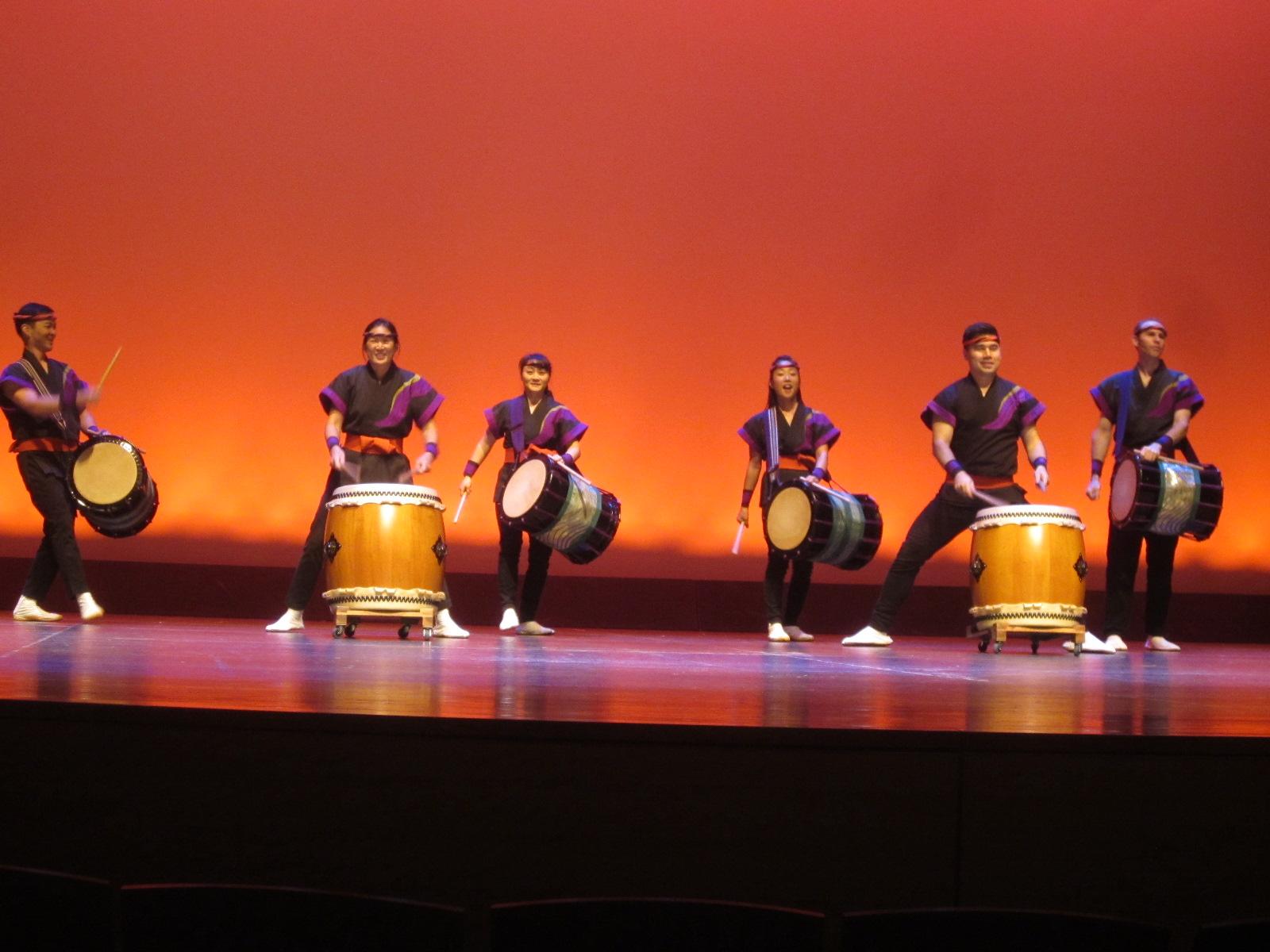 San Jose Taiko playing Gathering