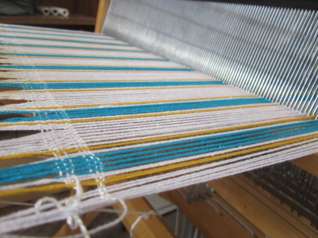 My warp - finally ready for weaving!