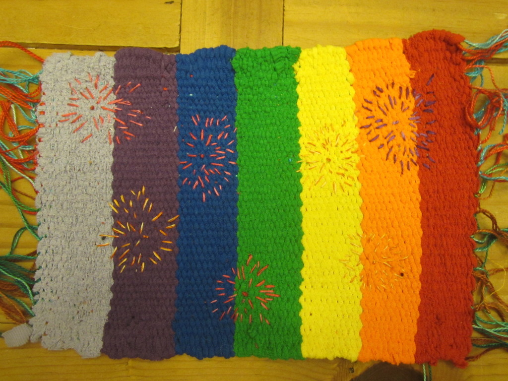 True Colors for my Golden Moments weaving project