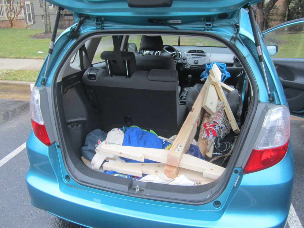 How the loom fits into my Honda Fit
