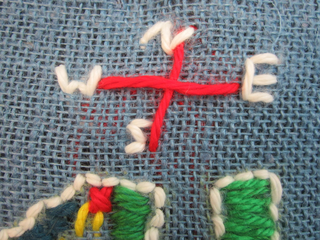 Virginia Map Stitchery by a student at Armstrong Elementary