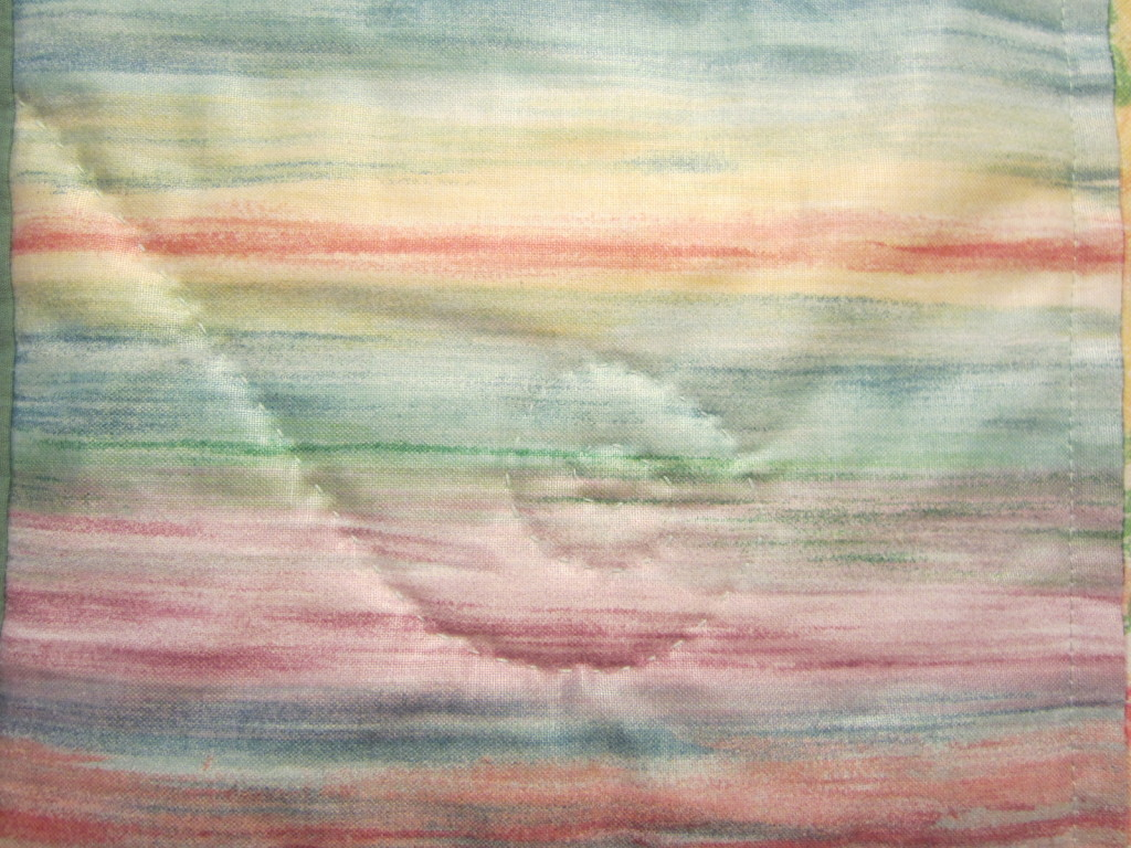 Fiddlehead pattern in Tyler's quilt