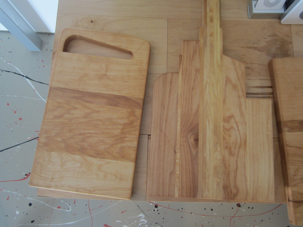 Dale's finished cutting boards
