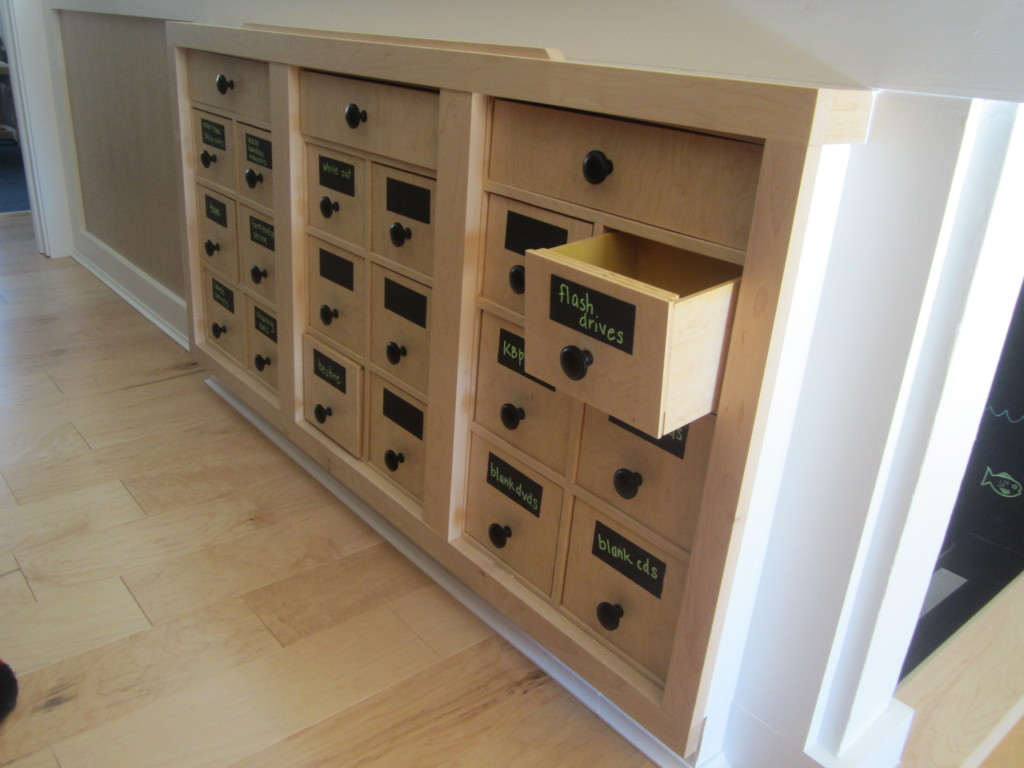 Built-in drawers made by Dale in his home