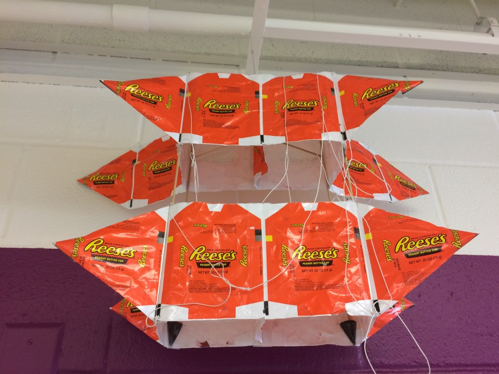 Kite from Reese's Pieces wrappers