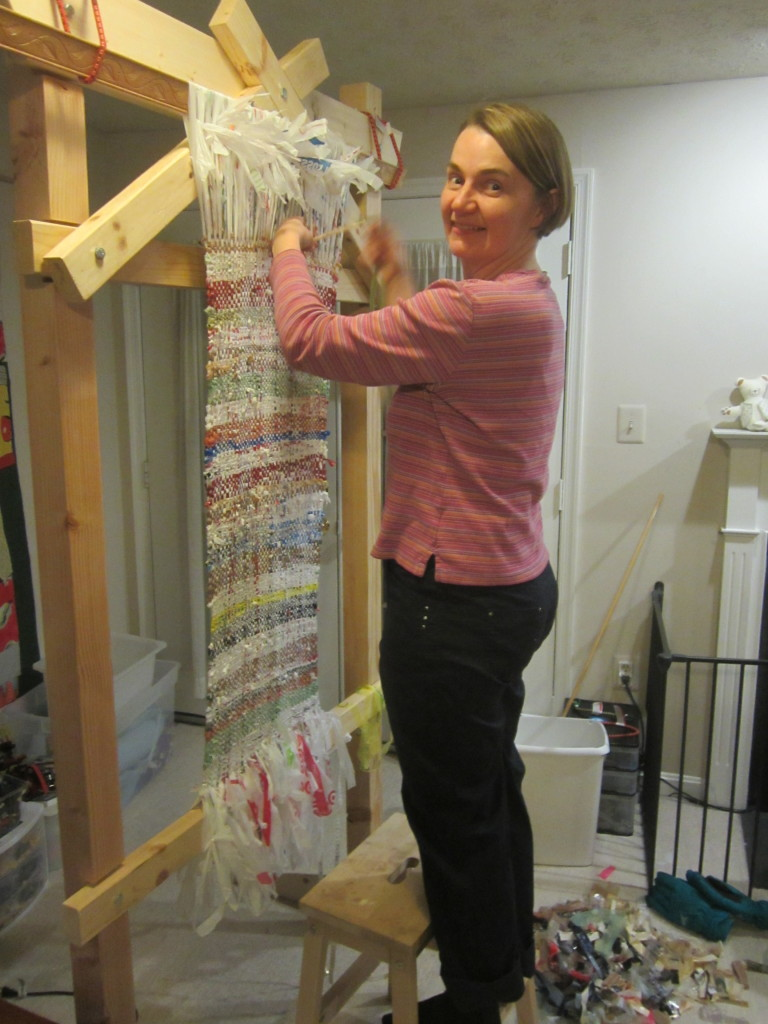 Weaving a longer bodice - rigged up system