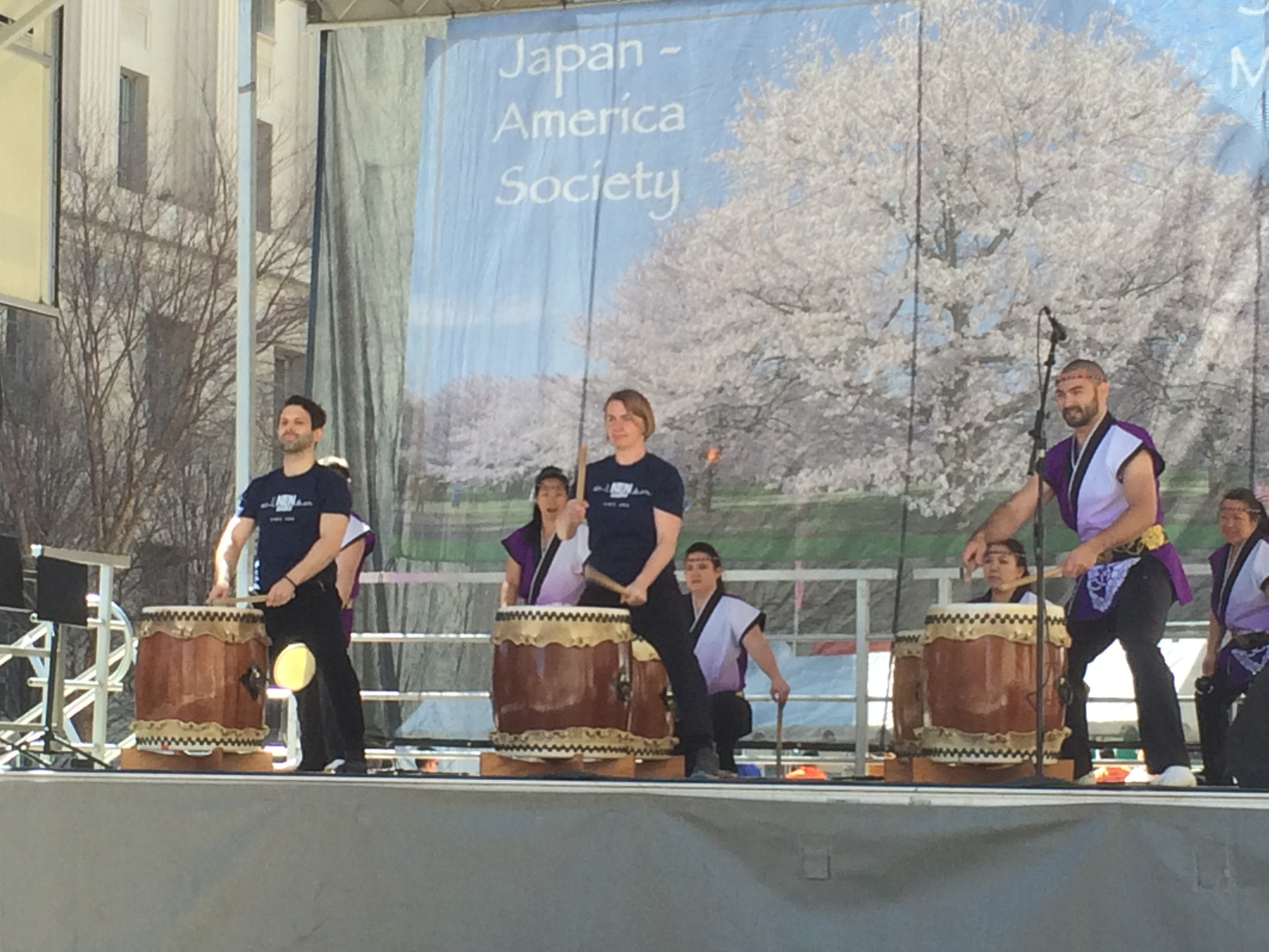 Playing Renshuu with Nen Daiko at the Cherry Blossom Festival